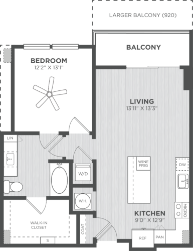 One Bedroom floor plans at Alexan on 8th Luxury Apartment Community