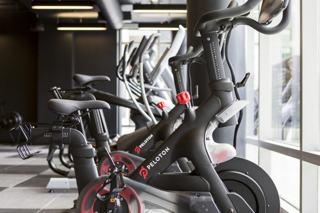 Peloton Bikes in the Fitness Studio at Alexan on 8th Luxury Apartment Community