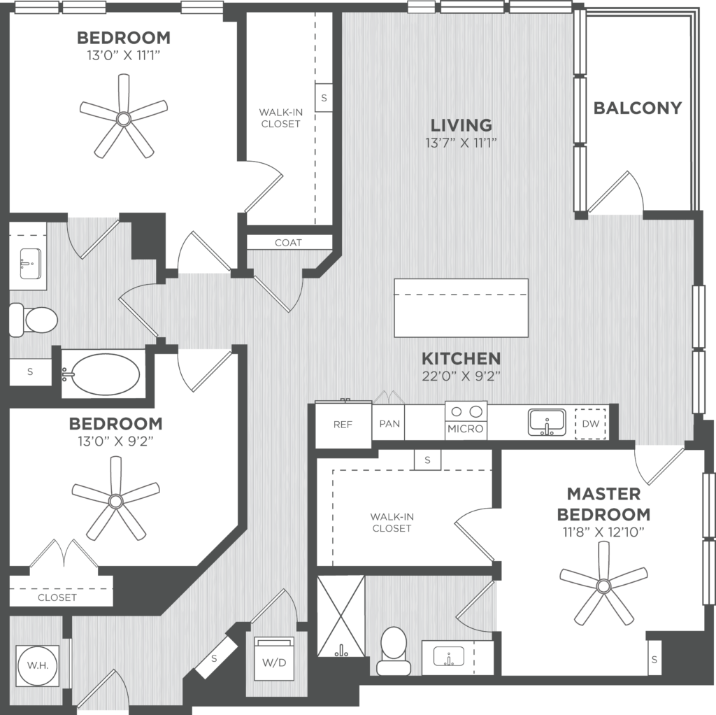 three-bedroom atlanta luxury apartments