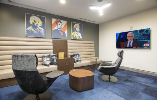 plush lounge with comfy seating and HDTVs - Enjoy the Luxury of Convenience