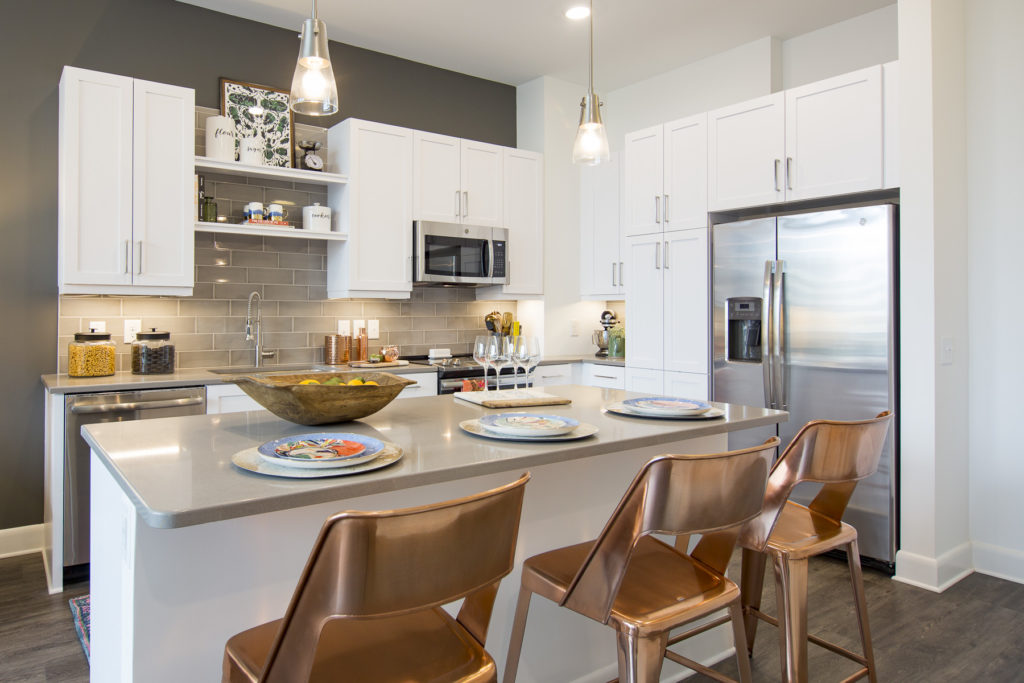 gourmet kitchen at Alexan on 8th - Living Comfortably is Only the Beginning