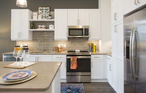 Gourmet kitchen at Alexan on 8th - The Future of Home
